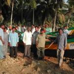 Groupes de pêcheurs à Guptapara