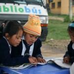 Temps de lecture organisé par le collège avec l'aide du Bibliobus