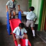 Moment de détente à l'école