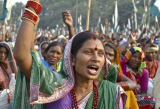 Femme militante d'Ekta Parishad