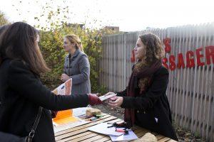 Plantation avec Vandana Shiva, pour Solidarité dans le cadre de COP 21 le 5 décembre 2015.