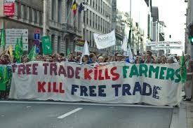 Manifestation Libre-échange