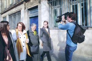 Clotilde Bato, Antoinette Guhl, Vandana Shiva et Marie Toussaint à Paris