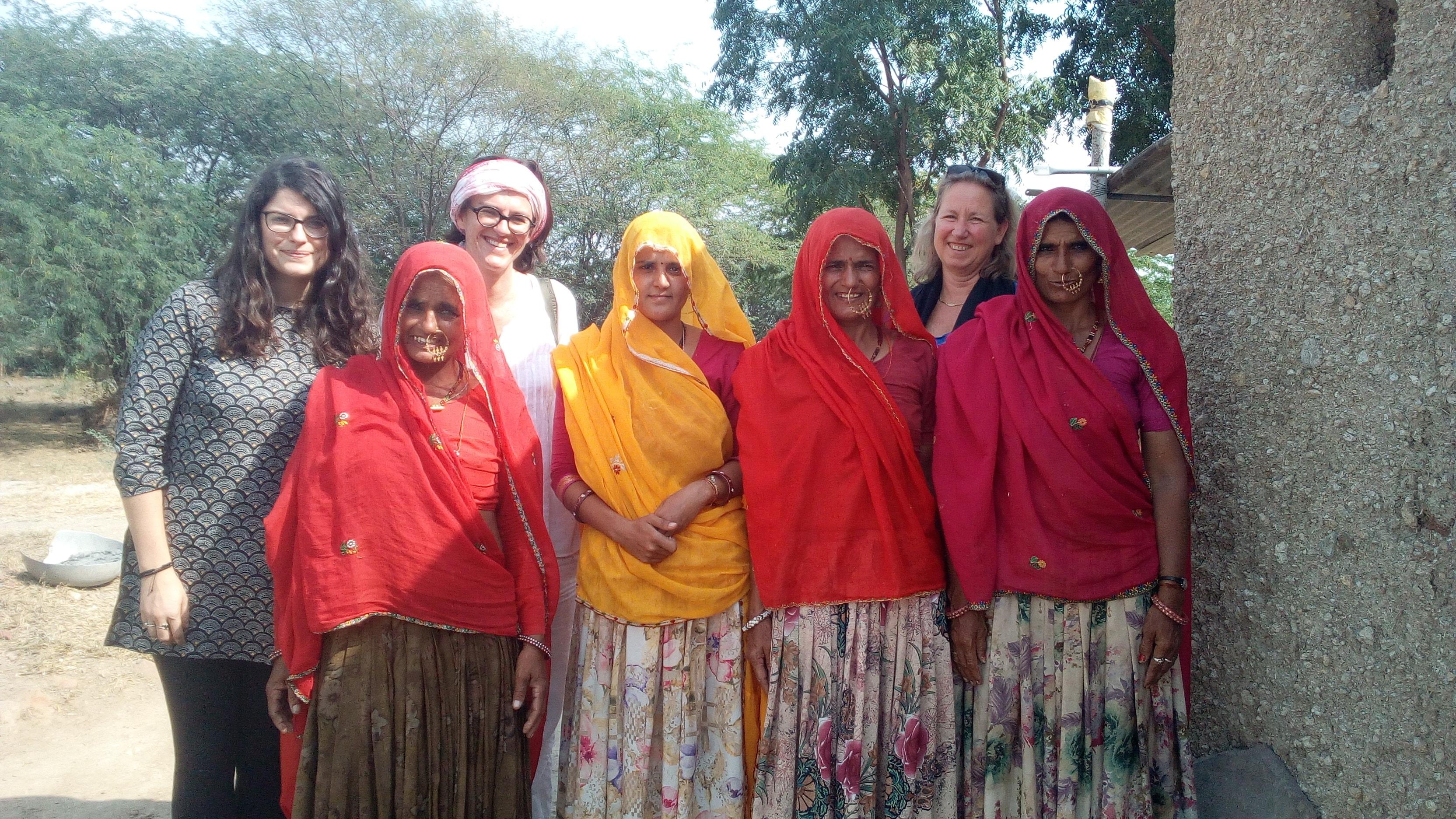 Marina Poiroux visite le projet Biofermes Inde - Rajasthan
