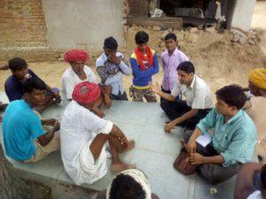 Farmers meeting, Parsotiya village, R.J.